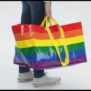 TWO 2 IKEA Pride LGBTQ Rainbow Totes Large